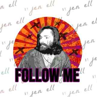 Follow Me - Sublimation Design - Instant Download