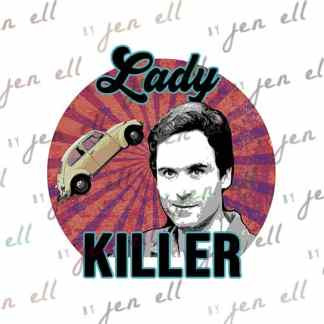 Lady Killer - Sublimation Design - Instant Download