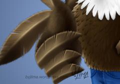 bald eagle american aguia americana careca jeans mascot design character mascote consept personagem empresa desenho passaro bird jlima 3