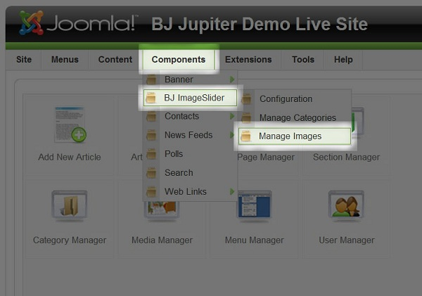 B Image Slider for Joomla