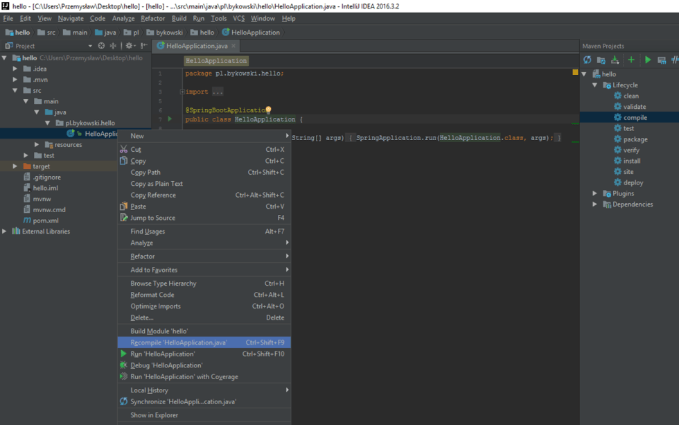 Clean And Build IntelliJ