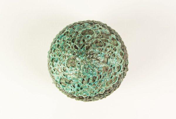 Boîte oeuf de dragon en céramique vert foncé