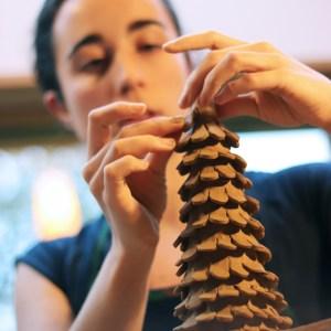 fabrication d'un sapin en céramique