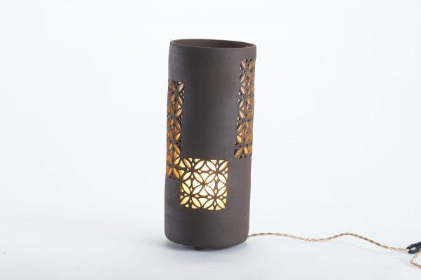 Photophore en céramique noire ajouré - Motif Sospiri - By Manet