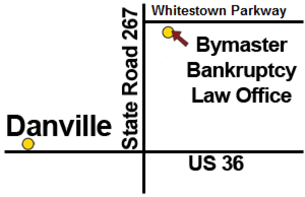 Danville Indiana Bankruptcy Attorney Office Map