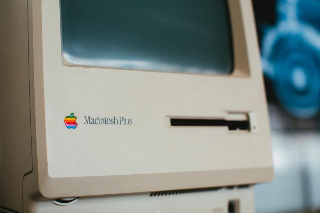 Original Macintosh Plus computer