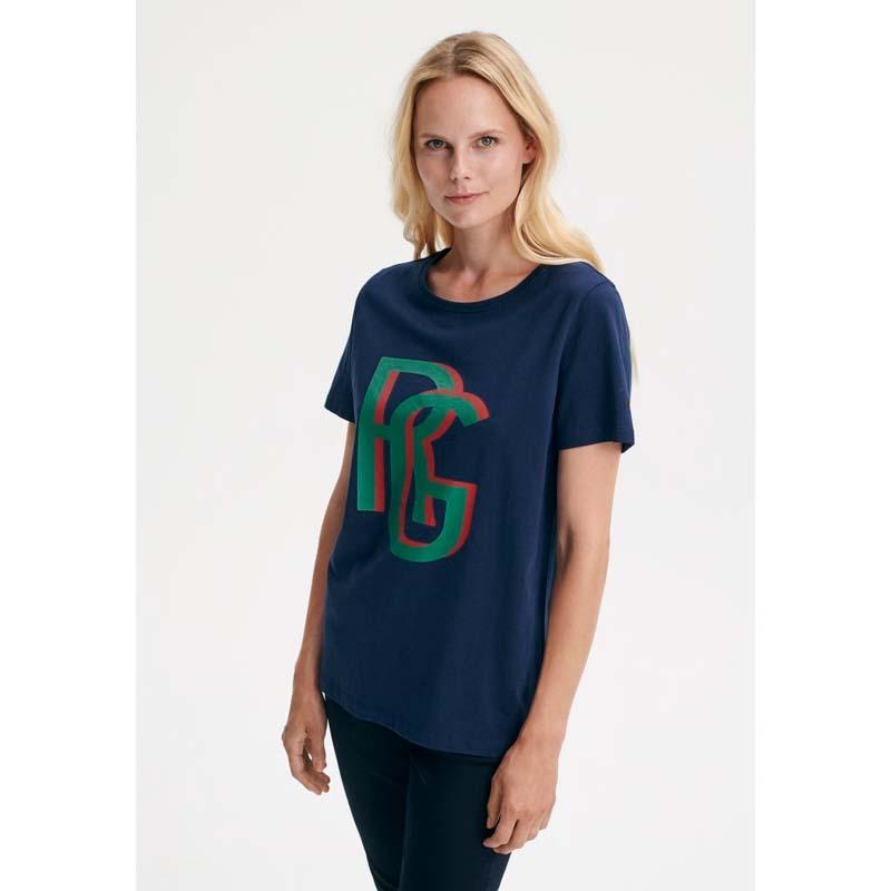 Cayla SS T-shirt - Navy www.byosly.dk