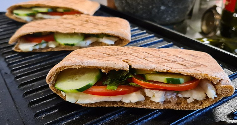 Pressed Halloumi Sandwich