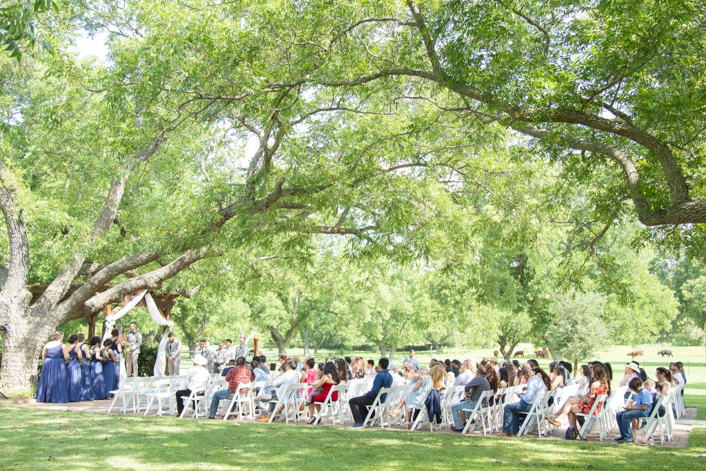 outdoor summer wedding at the Orchard in Azle, Texas.
