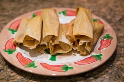 Tamales on plate