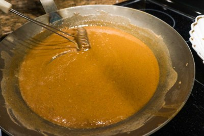 Gumbo roux browned
