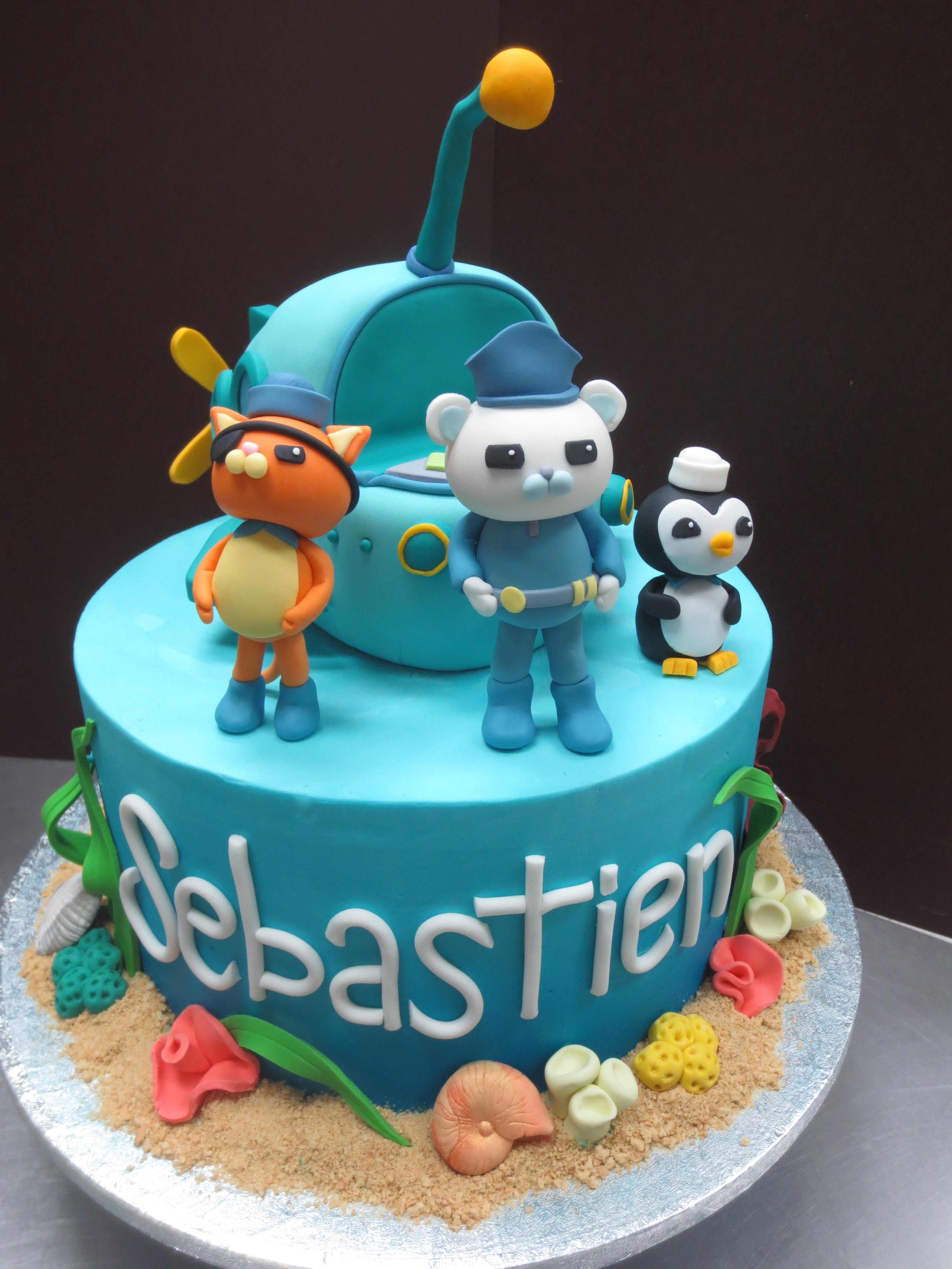 Octonauts Birthday Cake With Fondant Sea Life