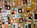 The wall of a cafe