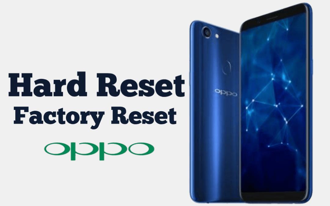Cara Hard Reset HP Oppo ke Pabrik Kembali Normal