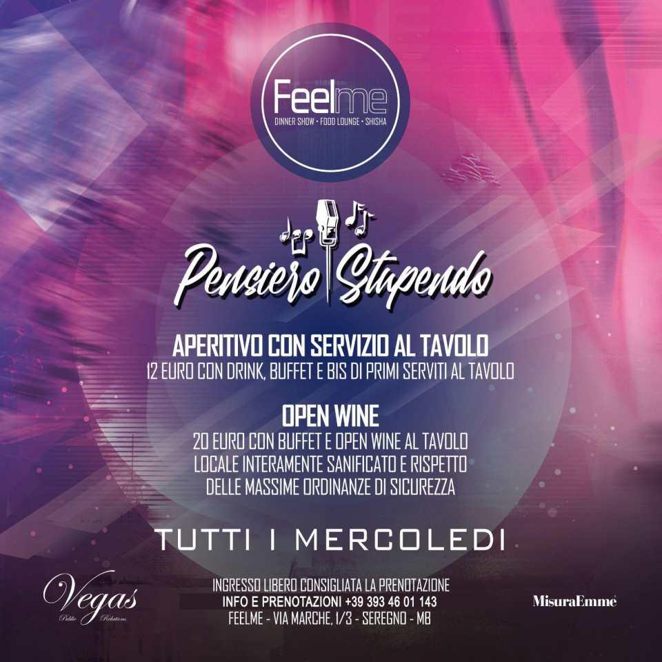Mercoledì Feel Seregno. Info +39 3934601143