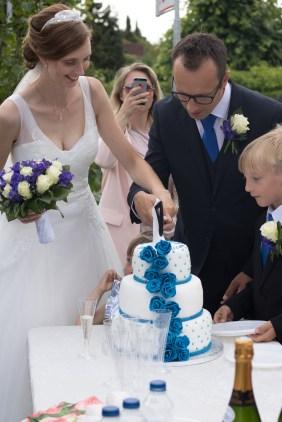 Tine og Allans bryllup - bryllupskage