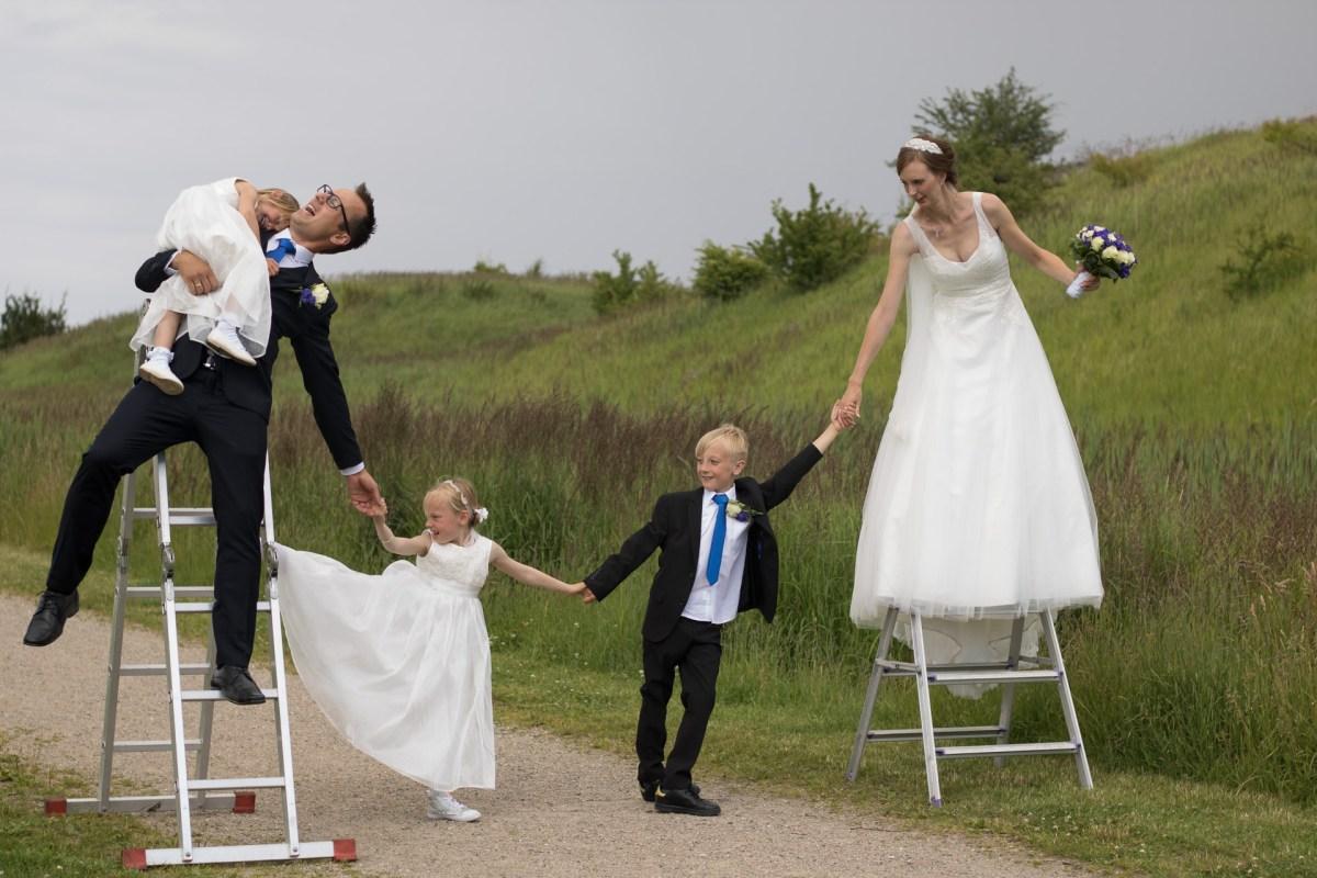 Tine og Allans bryllup - familieportræt