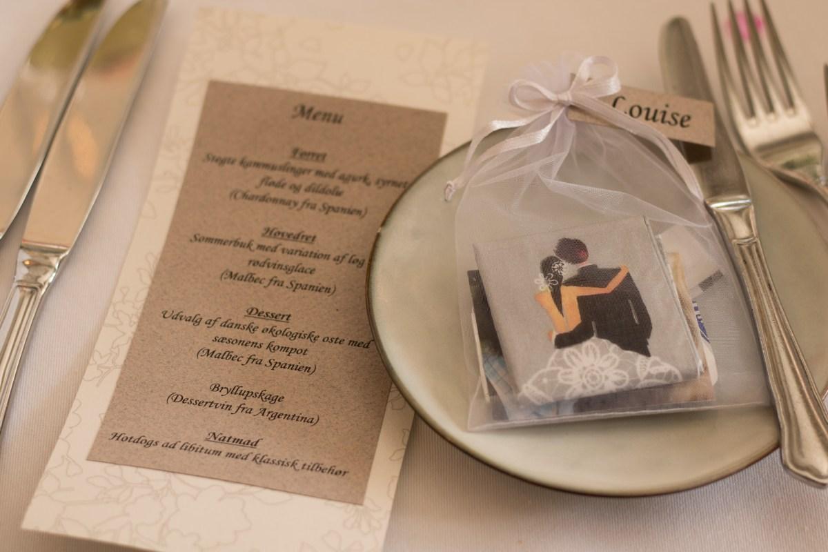 Victor og Mayas Bryllup - bordpynt