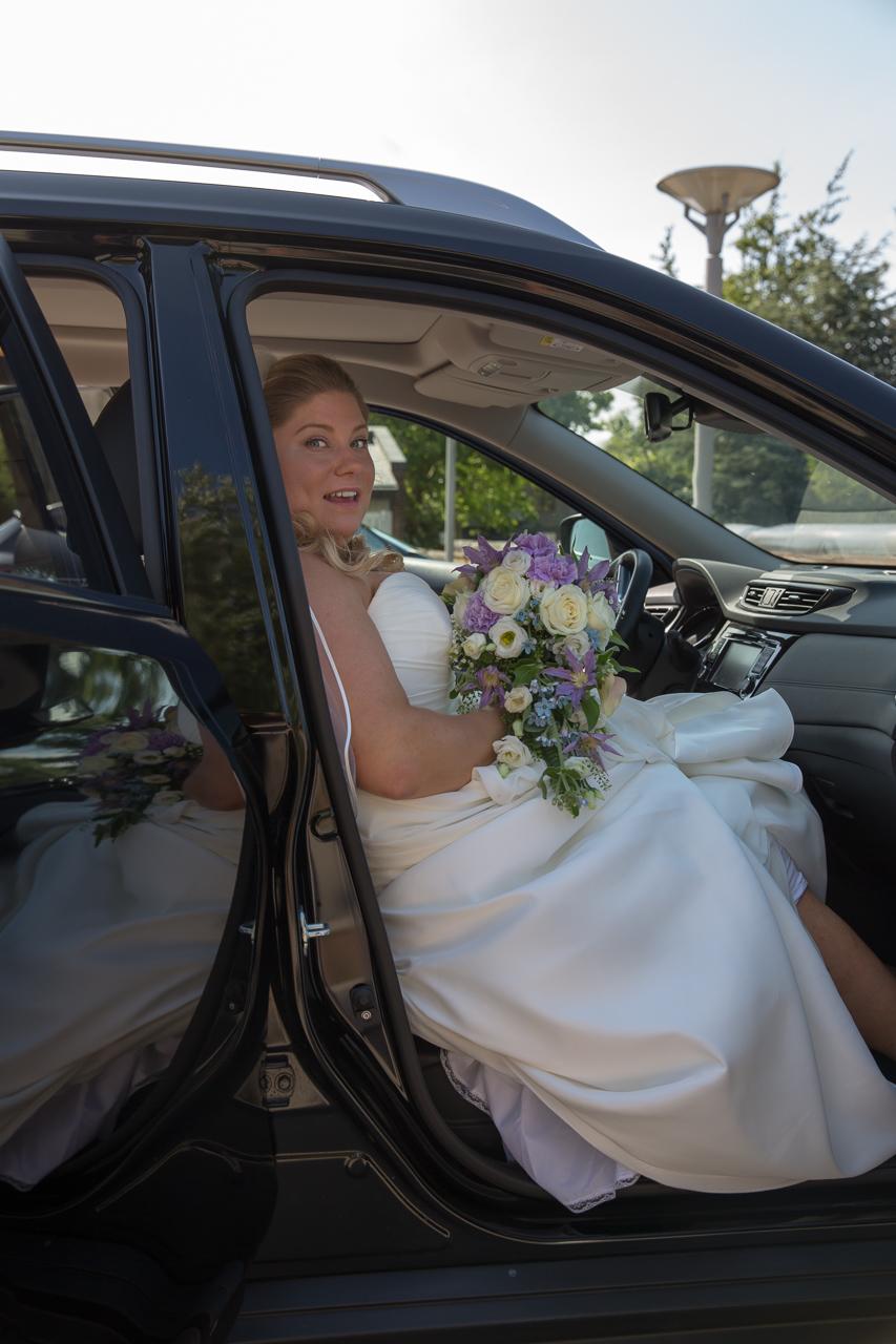 brud på forsædet i bilen