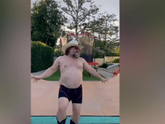 Jack Black's shirtless Quarantine Danve takes TikTok by storm