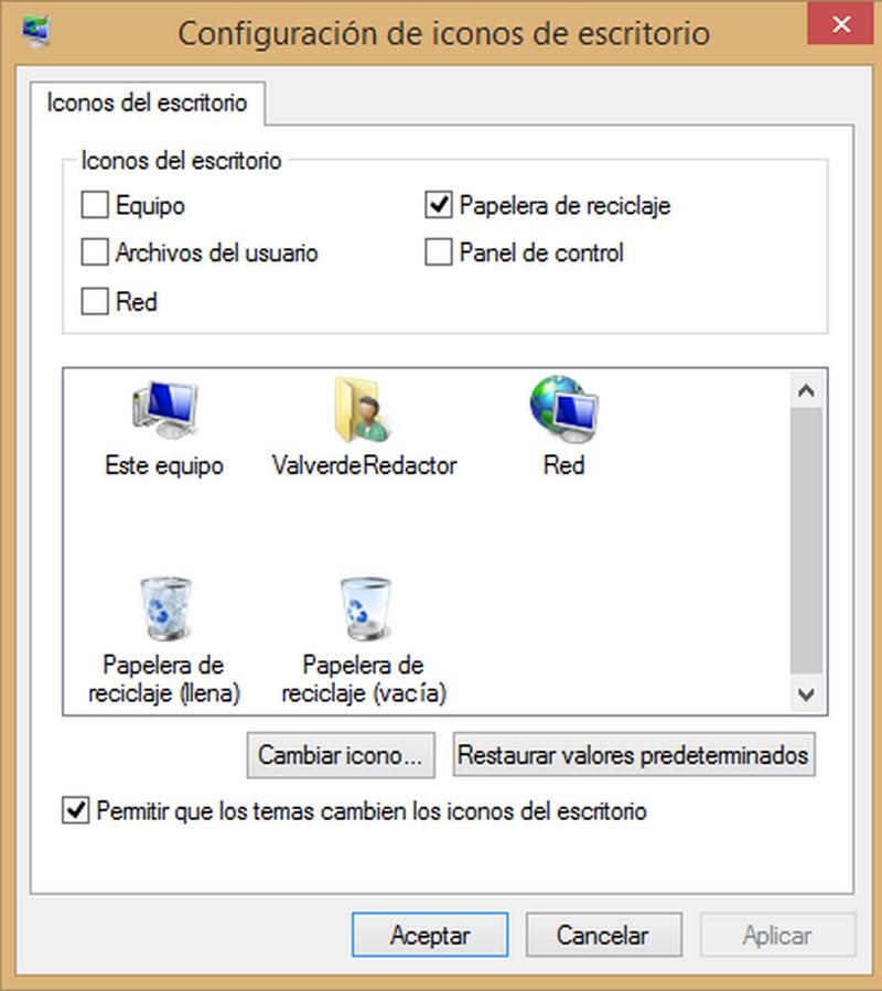 Cómo recuperar la papelera de reciclaje en Windows 8