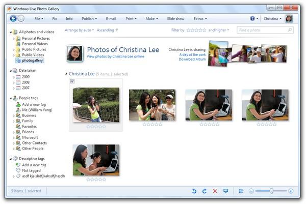 Windows Live Photo Gallery, la galería de fotos gratuita de Microsoft