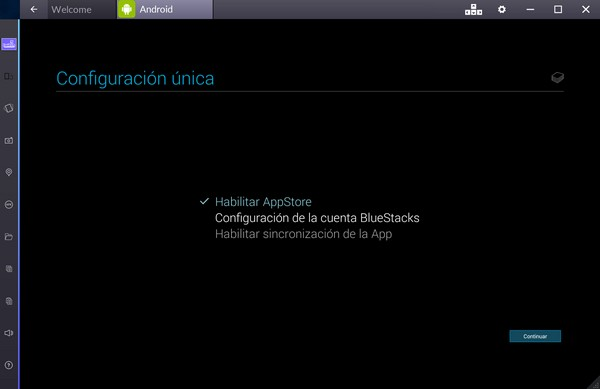Configurar BlueStacks d