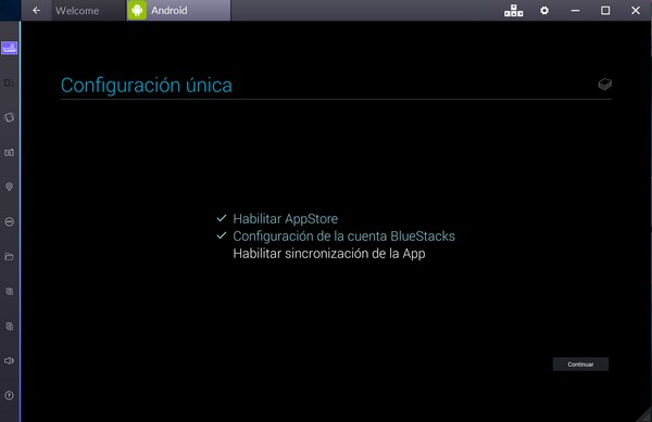 sincronizar bluestacks