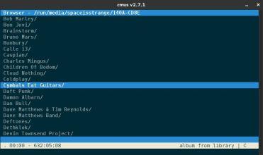 Gestor de archivos - Accesible pulsando 5