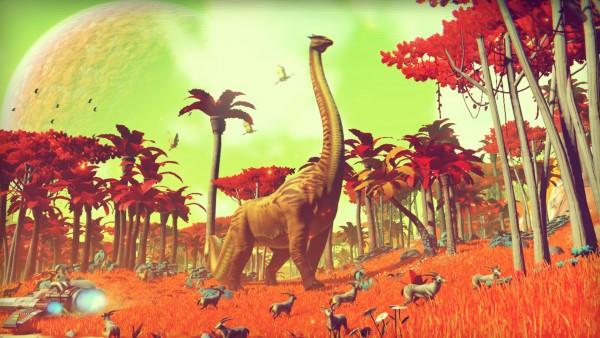 Fauna y flora generada proceduralmente en un planeta en No Man´s Sky
