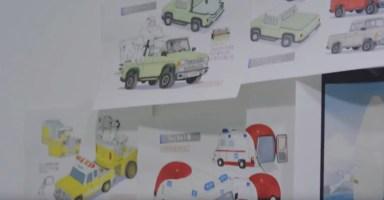 Bocetos de lo que parece una ambulancia Pokémon. ¿Veremos un centro Pokémon móvil?