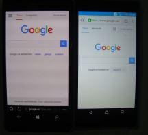 Se ve claramente cómo el Lumia muestra un tono distinto de blanco, quizás por la falta de brillo máximo