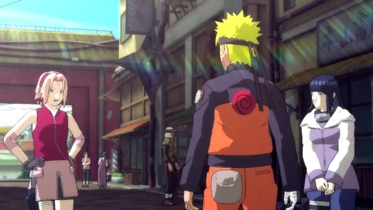 En el modo aventura podremos interactuar con personajes conocidos y explorar los distintos lugares del mundo ninja.