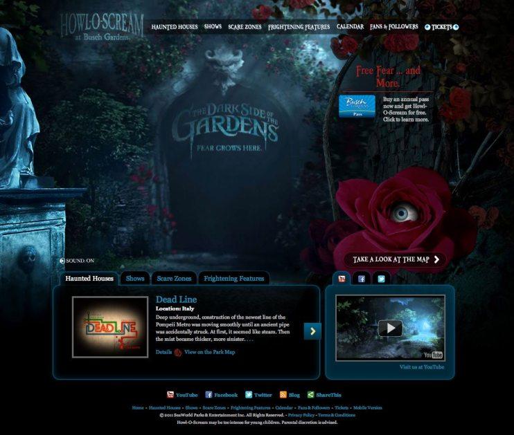 Howl-O-Scream Website