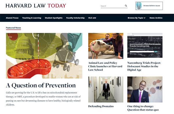 Harvard Law Today - Featured news WordPress blog