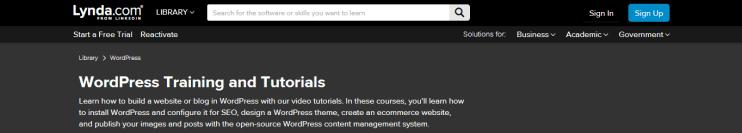 lynda.com website screenshot