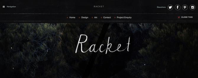 Racket Menu