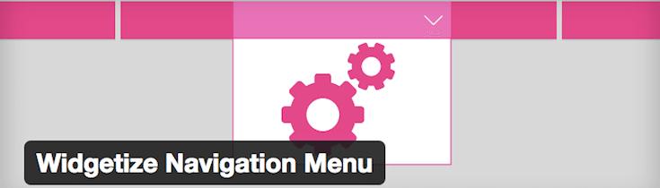 Widgetize Navigation Menu plugin