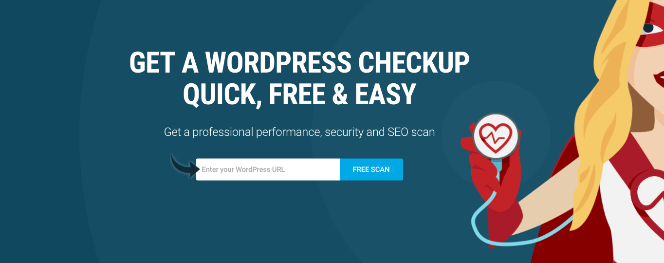 Just enter your URL and WP Checkup will check on the health of your website.