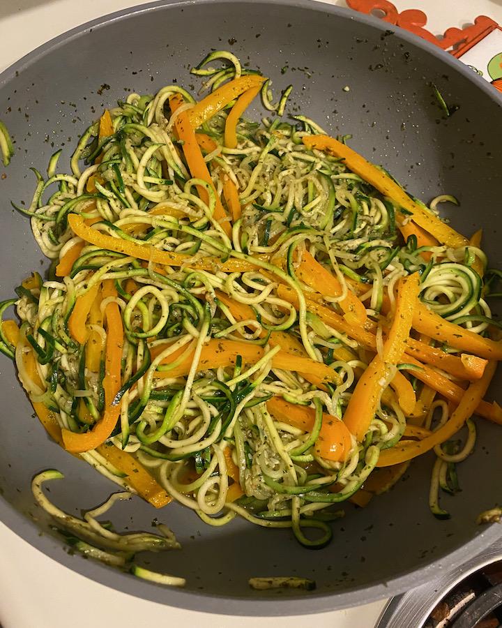 Zucchini Peppers Saute