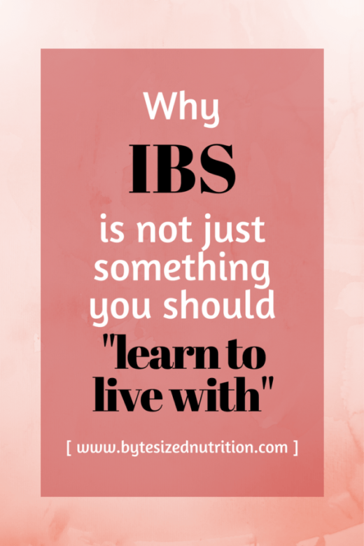 "IBS is no longer just a ""diagnosis of exclusion"", nor is it something that you should just ""learn to live with"". Find out what the recent research says and how you can find some relief from your symptoms! 