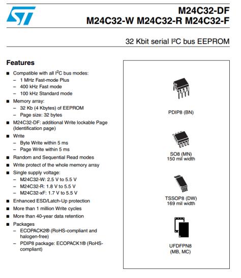 Bildausschnitt aus dem PDF Datasheet