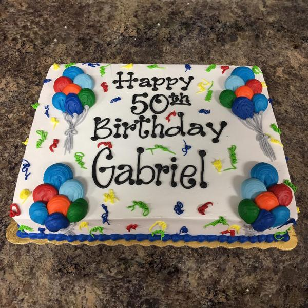 1 2 Sheet Cake 40 48 Servings Cakes Graduation Cakes By The Dozen Bakery In Machesney Park