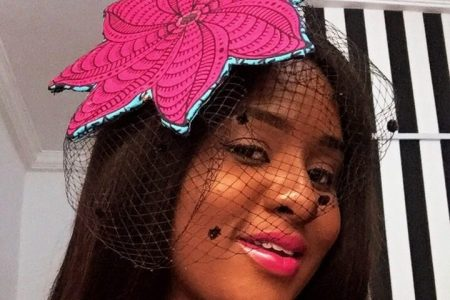 diy ankara fascinator
