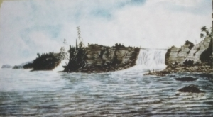 Falls of the Rideau River, at the Ottawa River, 1826, Thomas Burrowes, Archives publiques de l'Ontario, C 1-0-0-0-1