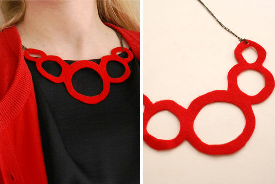 diy felt necklace