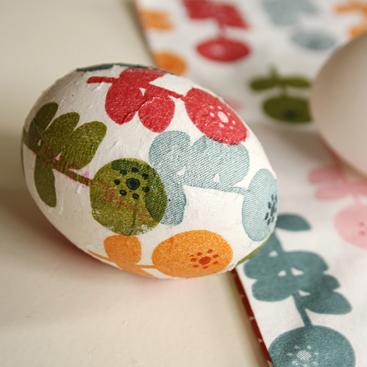 decoupage egg diy small