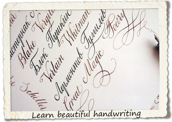 bucket list: learn beautiful handwriting