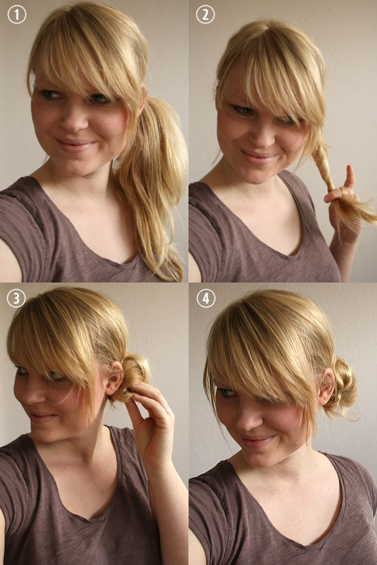 how to put your hair in a messy bun