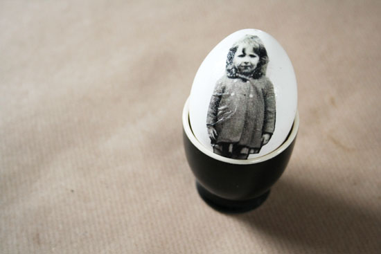 decoupage picture easter eggs